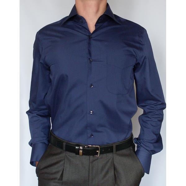 2d32fd0318b7bd8 Темно-синяя рубашка - CasualiZm