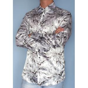 Серая рубашка с рисунком