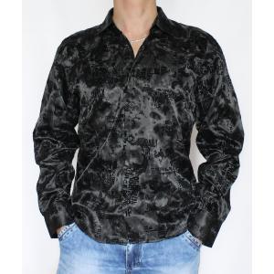 Черная рубашка с узорами