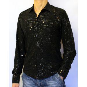 Стильная черная клубная рубашка